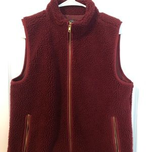 Teddy-bear fleece vest